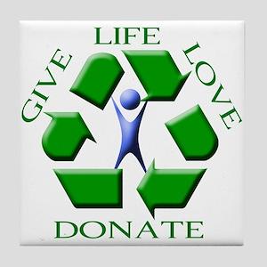 Give Life Tile Coaster