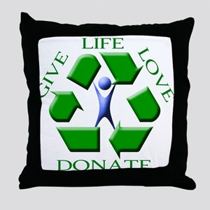 Give Life Throw Pillow