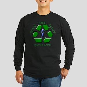 Give Life Long Sleeve Dark T-Shirt