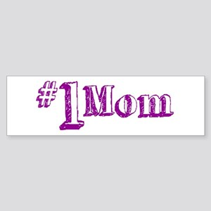 #1 Mom (Mother's Day) Bumper Sticker