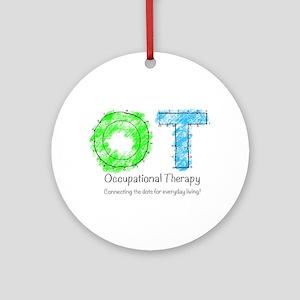 Dot to dot OT Round Ornament