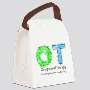 Dot to dot OT Canvas Lunch Bag