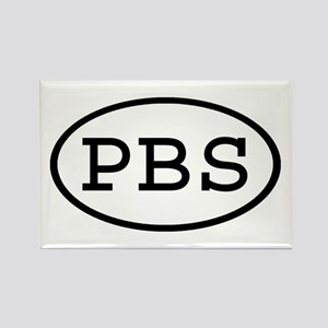 PBS Oval Rectangle Magnet