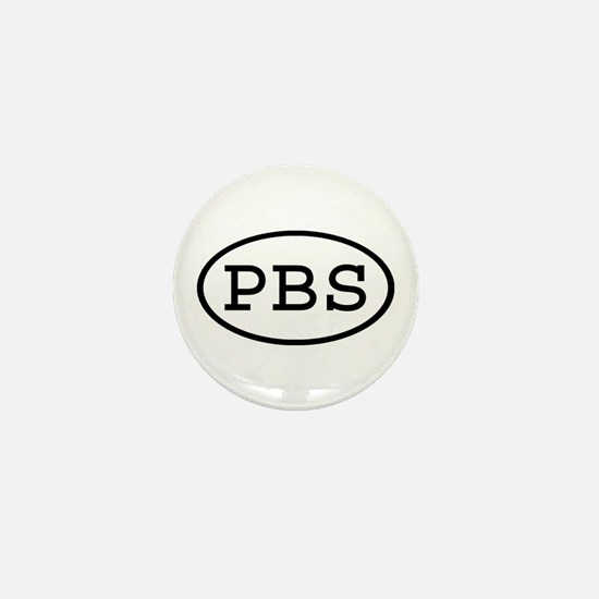 PBS Oval Mini Button