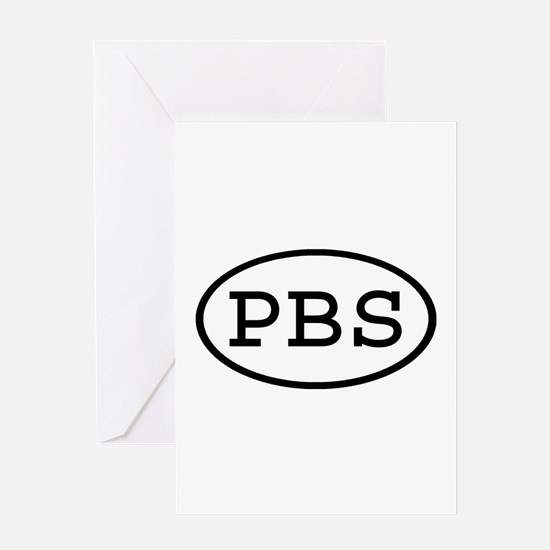 PBS Oval Greeting Card