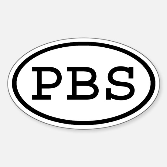 PBS Oval Oval Decal