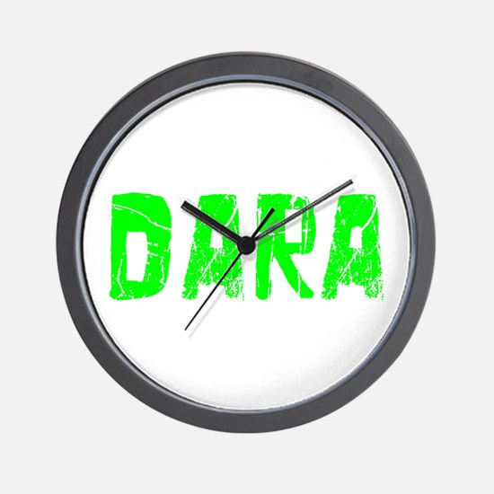 Dara Faded (Green) Wall Clock