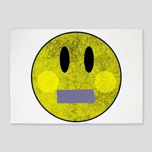 Smiley Face Duct Tape 5'x7'Area Rug