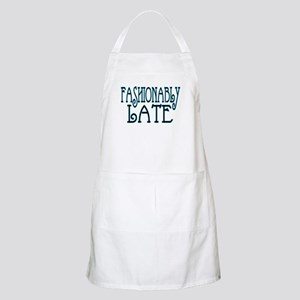 Fashionably Late BBQ Apron
