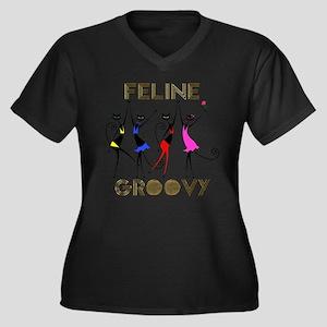 Feline Groovy Plus Size T-Shirt