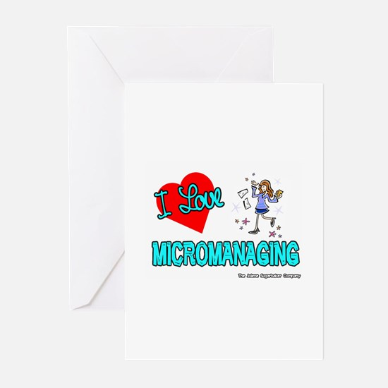 I Love Micromanaging Greeting Cards (Pk of 10)