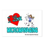 I Love Micromanaging Postcards (Package of 8)