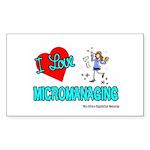 I Love Micromanaging Rectangle Sticker