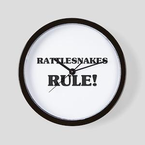 Rattlesnakes Rule Wall Clock