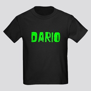 Dario Faded (Green) Kids Dark T-Shirt