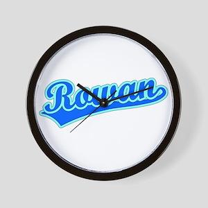 Retro Rowan (Blue) Wall Clock