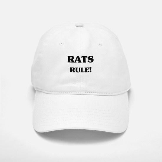 Rats Rule Baseball Baseball Cap