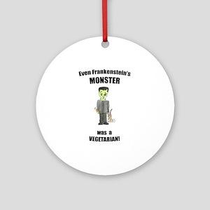 even monsters are vegetarian! (PETA) Ornament (Rou