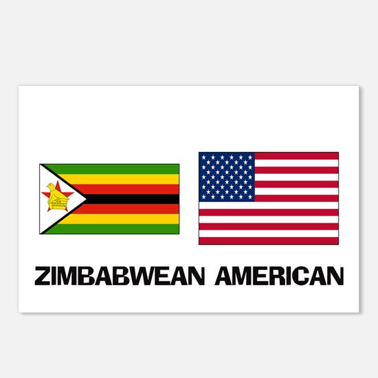 Unique Zimbabwe flag Postcards (Package of 8)