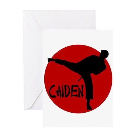 Caiden Karate Greeting Card