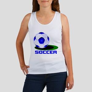 Soccer Ball Blue Women's Tank Top