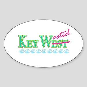 Key Wasted - Oval Sticker