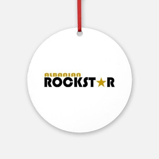 Albanian Rockstar Ornament (Round)