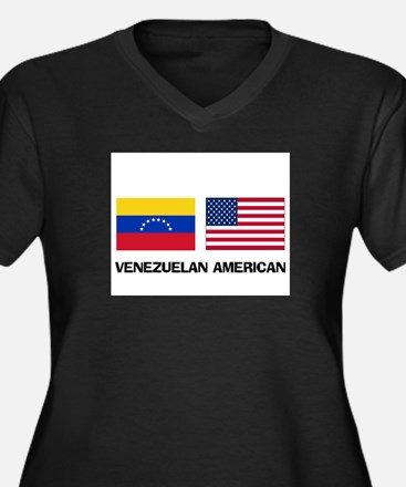 Venezuelan American Women's Plus Size V-Neck Dark