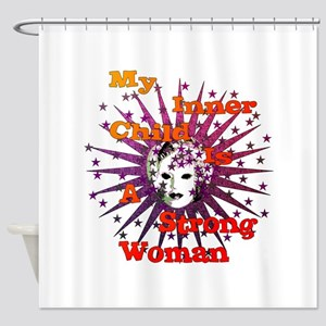 Inner Child Strong Woman Shower Curtain