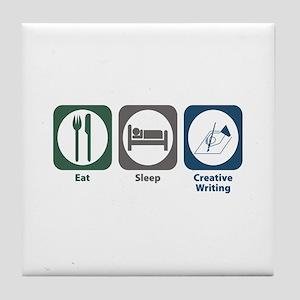 Eat Sleep Creative Writing Tile Coaster