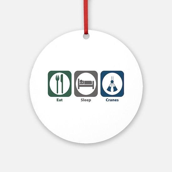 Eat Sleep Cranes Ornament (Round)