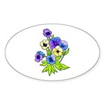 Flowers of Spring Sticker (Oval 50 pk)