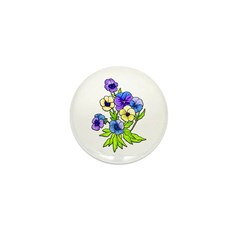 Flowers of Spring Mini Button (100 pack)