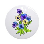 Flowers of Spring Ornament (Round)