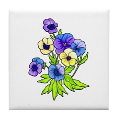 Flowers of Spring Tile Coaster