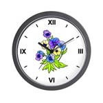 Flowers of Spring Wall Clock