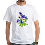 Flowers of Spring White T-Shirt