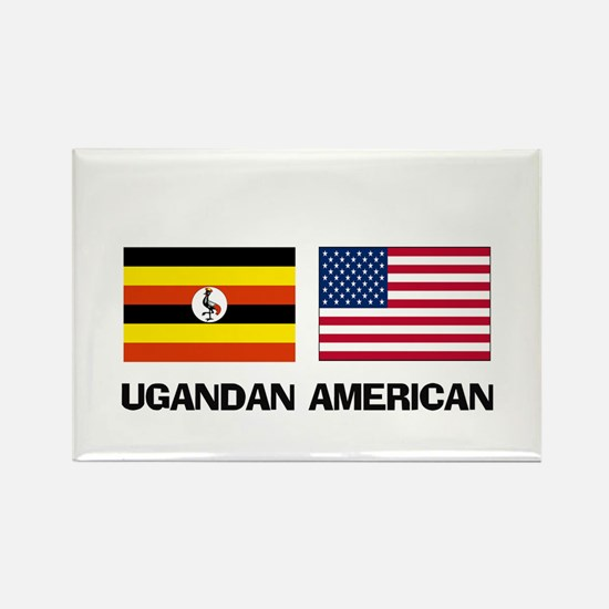 Ugandan American Rectangle Magnet