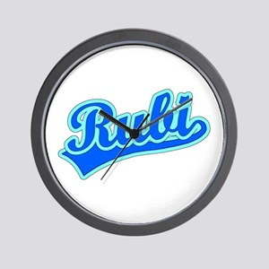 Retro Rubi (Blue) Wall Clock