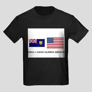 Turks & Caicos Islander American Kids Dark T-Shirt