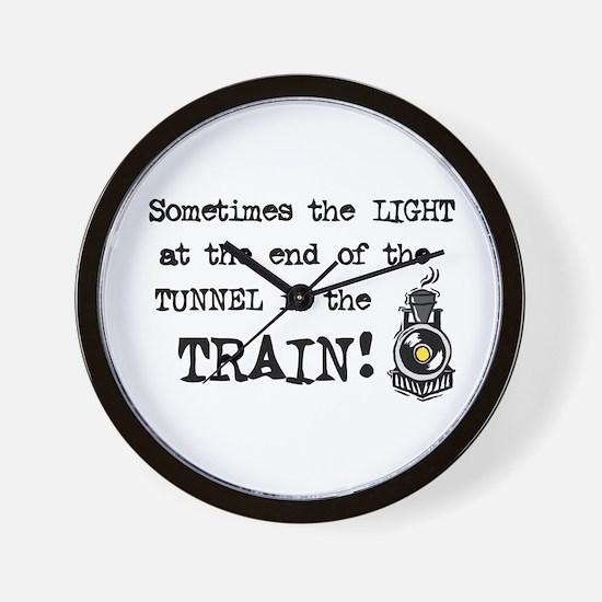 Tunnel Light Wall Clock