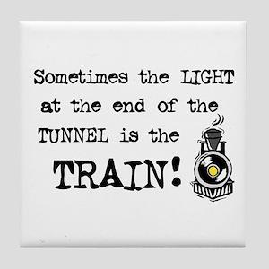 Tunnel Light Tile Coaster