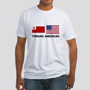Tongan American Fitted T-Shirt