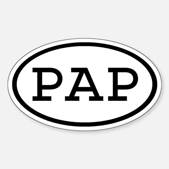 PAP Oval Oval Decal