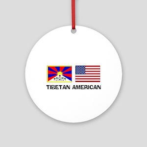 Tibetan American Ornament (Round)