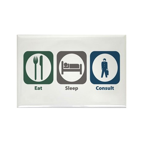 Eat Sleep Consult Rectangle Magnet