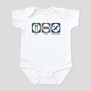 Eat Sleep Construction Infant Bodysuit