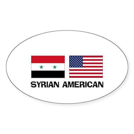 Syrian American Oval Sticker