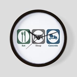 Eat Sleep Concrete Wall Clock