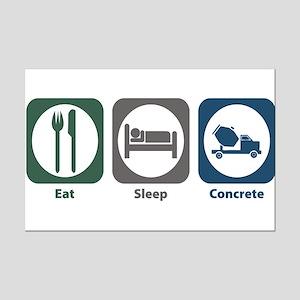 Eat Sleep Concrete Mini Poster Print